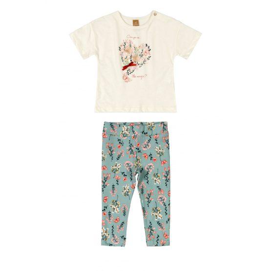 Conjunto blusa e legging – Floral