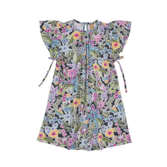 Vestido manga curta – Jardim