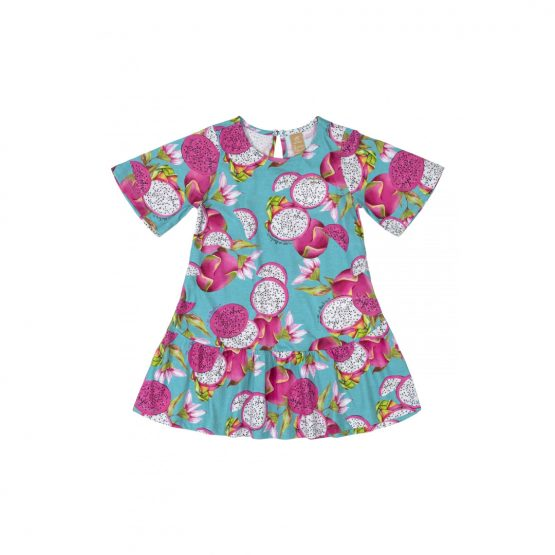 Vestido manga curta – Pitaya