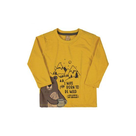 Camiseta manga longa – Urso