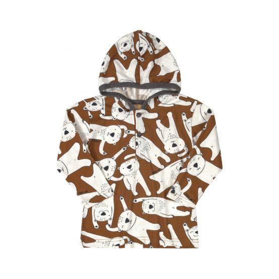 Camiseta manga longa com capuz – Urso