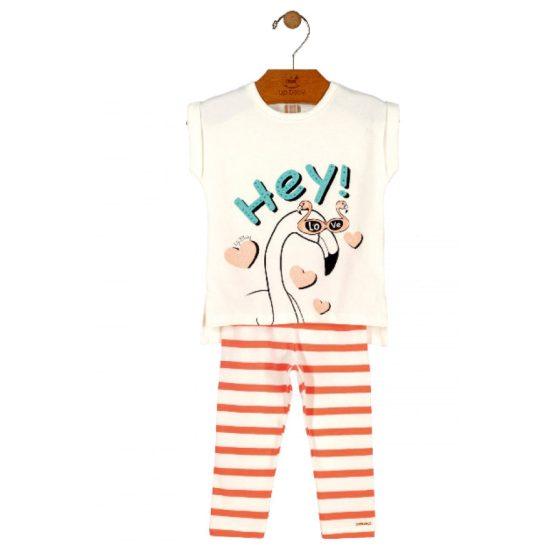 Conjunto blusa e legging com estampa de flamingo
