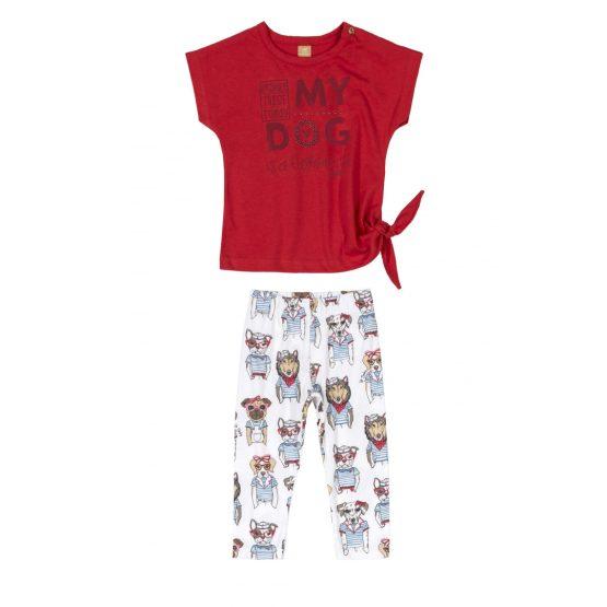 Conjunto blusa e legging – Cachorro