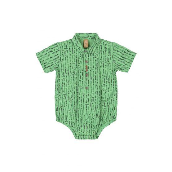 Body camisa manga curta em meia malha – cores diversas