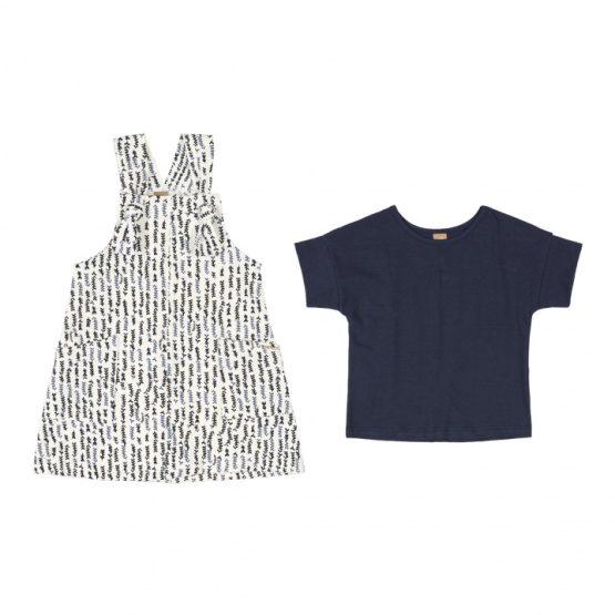 Conjunto blusa e salopete – Trigo