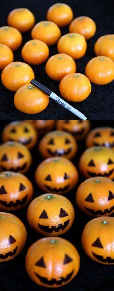 abóboras feitas de com tangerina