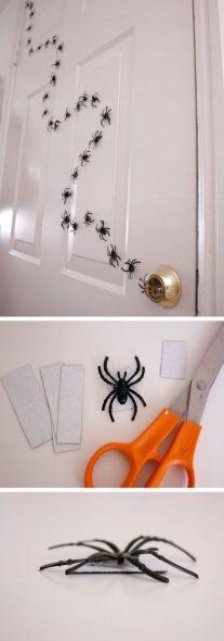 Caminho de aranhas - Festa de Halloween infantil