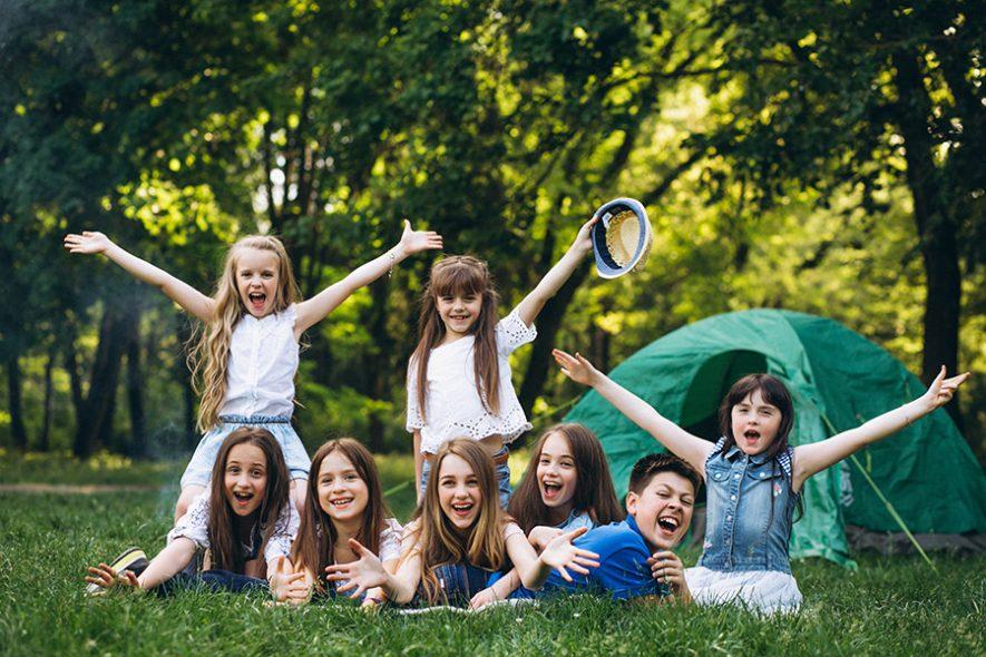 acampamento dia das crianças