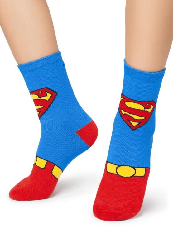 Meia Soquete Super Homem Azul