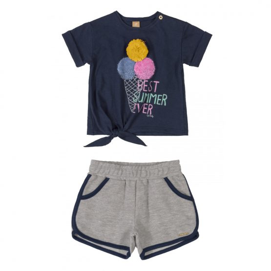 Conjunto blusa e short – Sorvete