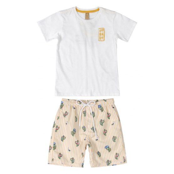 Conjunto camiseta e bermuda – Cacto