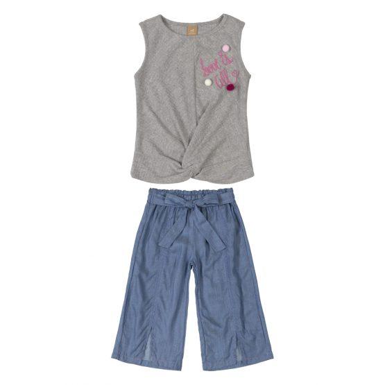 Conjunto blusa e calça – Love is all