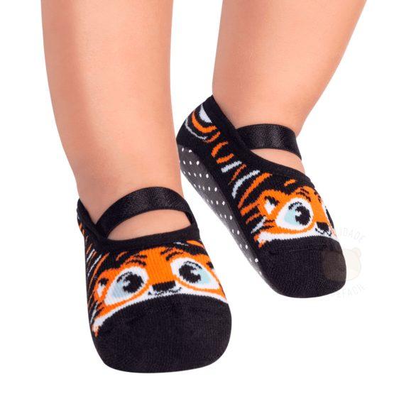 Sapatilha modelo pansocks Tigre