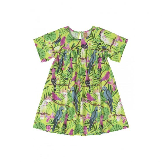Vestido manga curta – Tropical