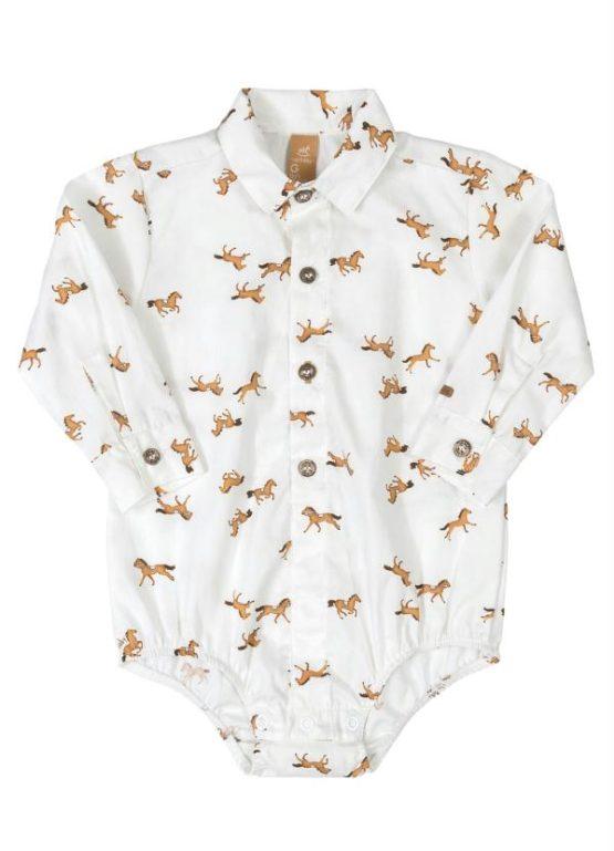 Body camisa manga longa – Cavalo