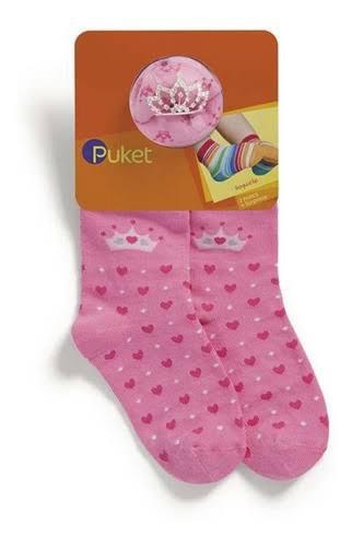 Kit com 2 pares de meias Princesa + coroa