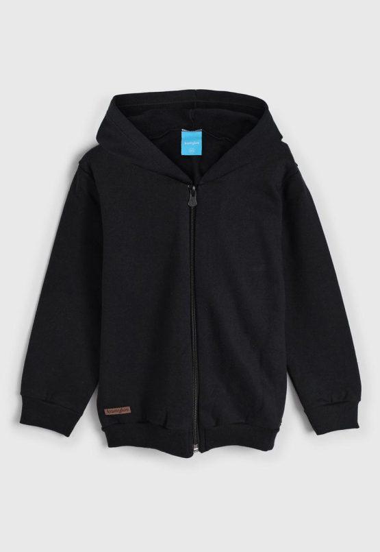 Jaqueta com capuz preta