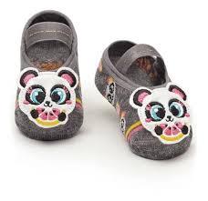 Sapatilha com aplique de Panda Baby