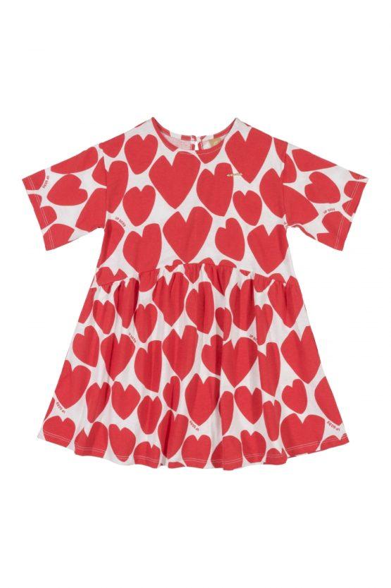 Vestido manga curta – Coração
