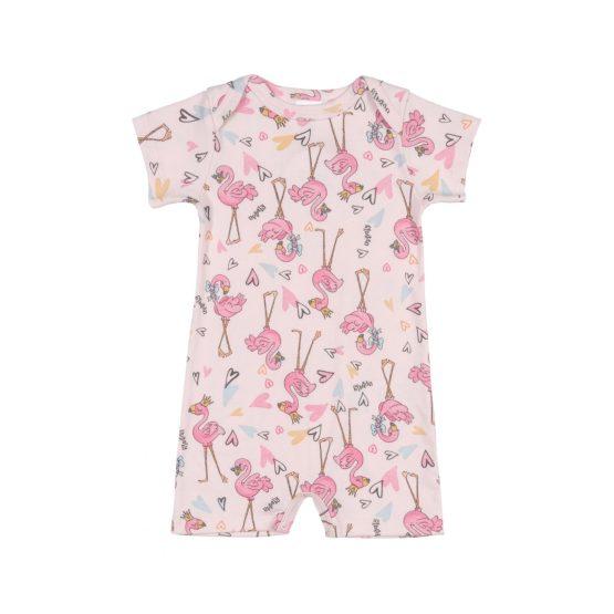 Macaquinho manga curta – Flamingo
